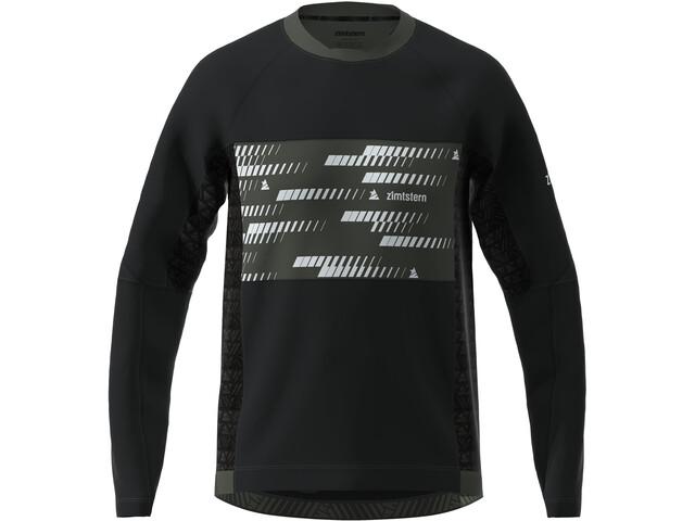 Zimtstern TechZonez Koszulka z długim rękawem Mężczyźni, pirate black/gun metal